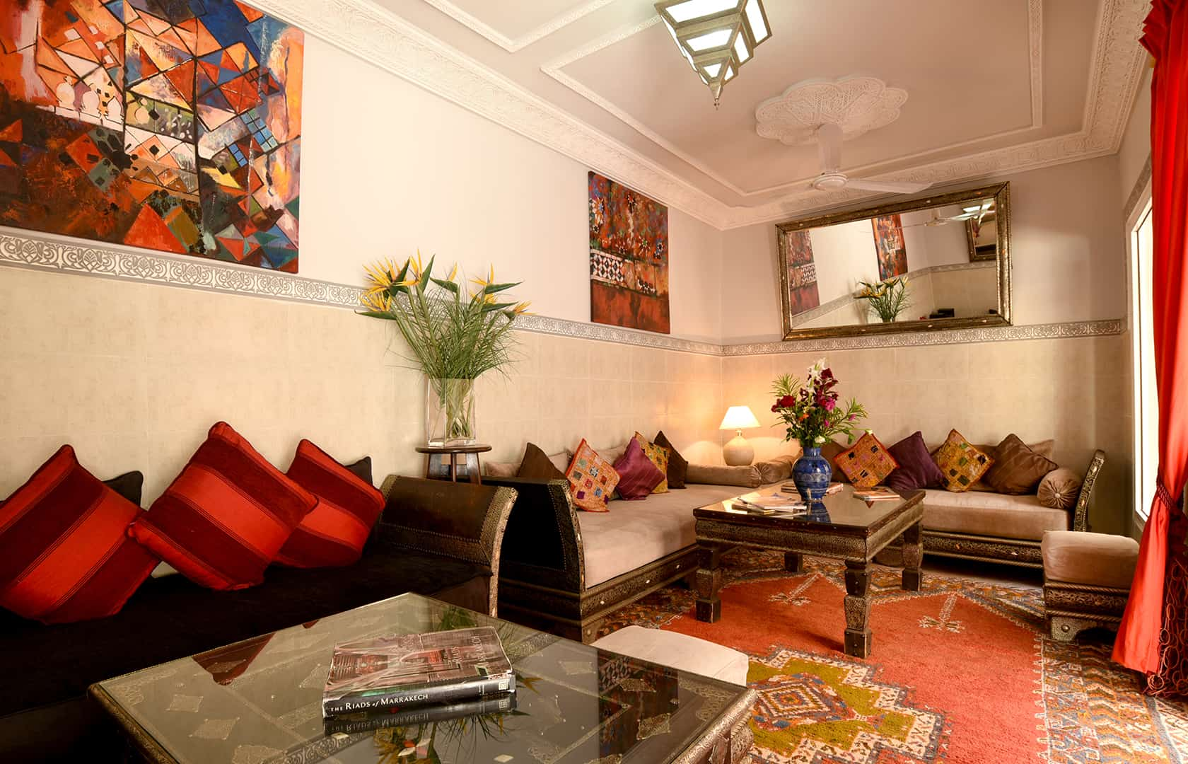 Comfortable salon, Riad Shaden Marrakech